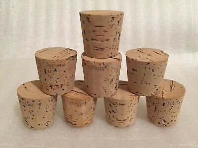 "CORK, Push-In, Tapered, Round Cork Plugs,(8), Size 18, Fits 1 1/2"" Large End"