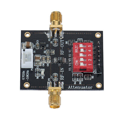 5 Digital RF Radio Frequency Attenuator HMC273 Module 0.7-3.8GHz Step 1dB-31dB