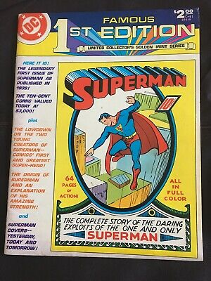 Comic First Ever Superman Story Of 1939 Reissued 1979