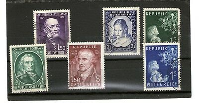 Austria/ Mix Of Commerative Stamps With Good Value/all Used/cv $70++