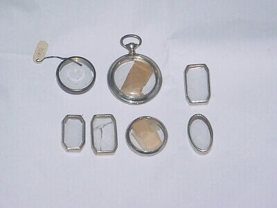 Vintage Lot Of 7 New Old Stock Women's Wrist And Pocket Watch Casess