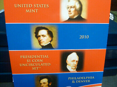 2010 US Mint Presidential $1 Coin Uncirculated Set Philadelphia Denver