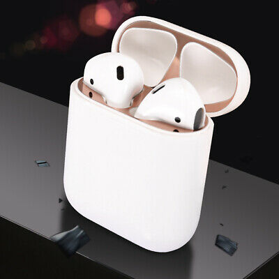 Metal Dust Guard Protective Sticker for Apple AirPods Case Box Pouch Accessory