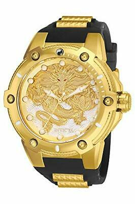 25777 Invicta 52MM Coalition Forces DRAGON LORD 18K GoldTone Automatic Strap Wat