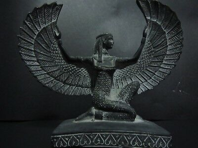 Isis Egyptian Winged Antique Goddess Ancient Stone Egypt Statue Rare Queen Love