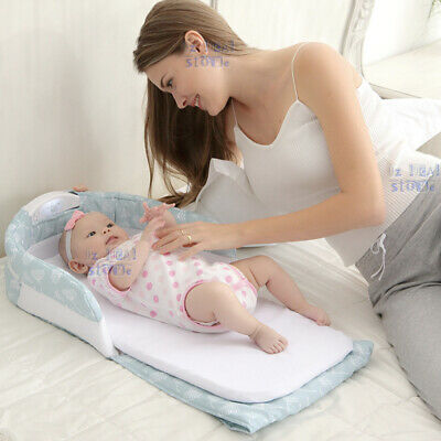 Baby Cot Crib Seperate Bed Portable Infant Sleeper Baby Bed Travel Bassinet