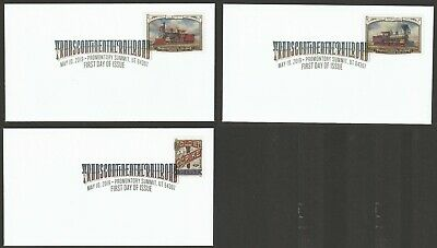 US 5378-5380 Transcontinental Railroad (set of 3) DCP FDC 2019