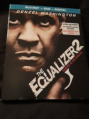 The Equalizer 2 (Blu Ray+DVD+Digital) BRAND NEW FACTORY SEALED W/SLIPCOVER