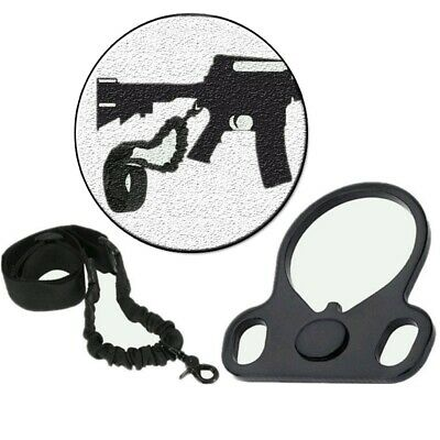 US Tactical Single Point Sling Adapter For Rifle2AR 223/556 Black Plate Mount