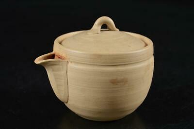 S452: Japanese Banko-ware Unglazed earthenware TEA POT Houhin Kyusu Sencha