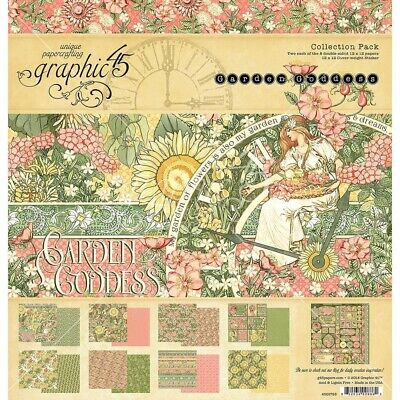 """G45 - Double-Sided - Garden Goddess Collection Pack 12""""X12"""""""