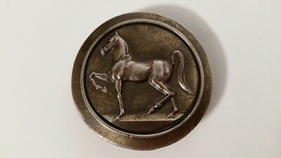The Great American Buckle Company Chicago Horse Belt Buckle 1977