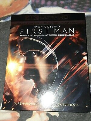 First Man (4K/BLU-RAY) **NO DIGITAL** EXCELLENT,  W/SLIPCASE, FREE SHIPPING