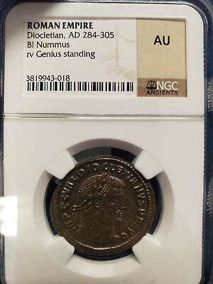 Ancient Roman Coin Diocletian BI Nummus NGC About Uncirculated AU 284-305 AD