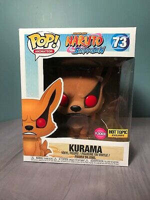 KURAMA Flocked #73 Funko Pop! Animation Naruto Shippuden Hot Topic Exclusive