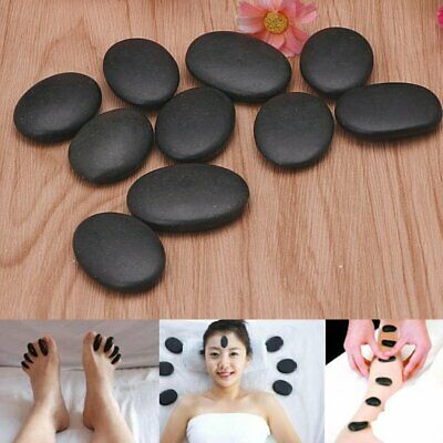 7pcs Hot Spa Rock Basalt Stone Beauty Stones Massage Lava Natural Stone Black