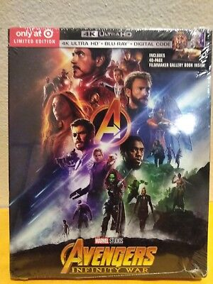 Avengers Infinity War 2018 4K Ultra HD Blu Ray Digital HD Target Exclusive New
