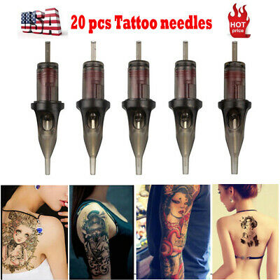 20pc Disposable Tattoo Needle Cartridges Sterilized Round Liners Shader RL RS RM