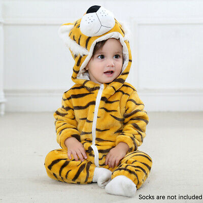 Baby Animal Costume Newborn Cute Soft Flannel Pajamas 0-24 Months Kid Coverall