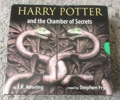 Harry Potter the Chamber Of Secrets CD Audio Book Unabridged Stephen Fry 8 Disc