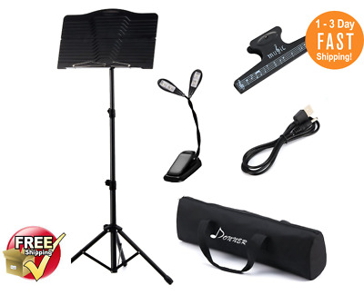Atril Partituras Para Musica De Partitura Stand Plegable Portatil Soporte Kit