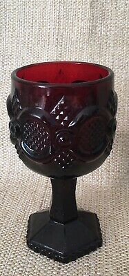 Vintage Avon Cape Cod Collection 1876 Ruby Red Footed Wine Glass Replacement