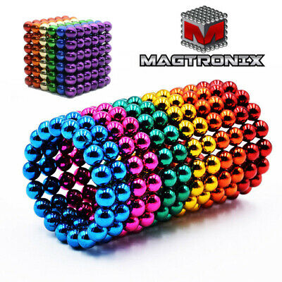 216Pcs 3/5mm Colorful Magic Magnets Ball Neodymium Sphere 3D Puzzle Cube Gift UK