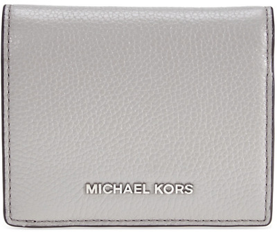 0d4c9c2ca17686 Michael Kors NWT $78 Money Pieces Flap Snap Card Holder Wallet Grey Leather