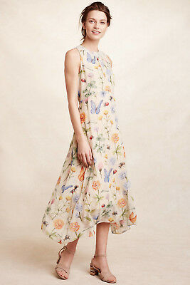 e77352eb9829 New Anthropologie $198 Butterfly Garden Midi Dress By Pankaj & Nidhi ...