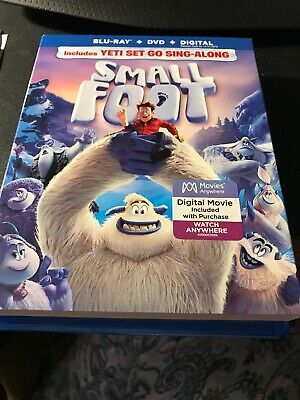 Smallfoot Blu-ray & DVD 2 Disc Set Small Foot Yeti 2019 Movie Comedy Kids