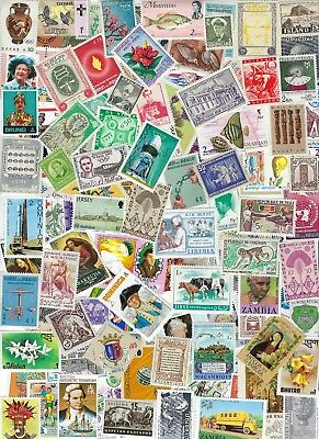 Worldwide - All Different MNH 100 Stamps 60 Countries..............D - 8D21