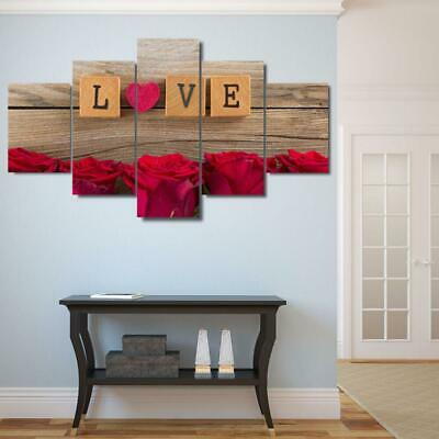 RED HEART LOVE Canvas Art Print for Wall Decor Painting