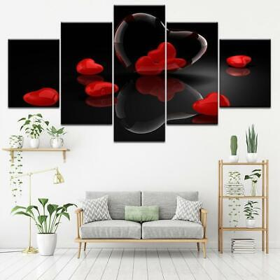 Red Hearts Canvas Art Print for Wall Decor Painting