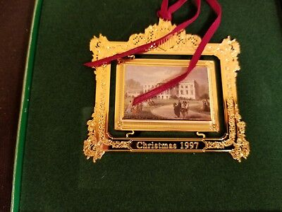 1997 White House Christmas Ornament Historical Association WH South Lawn