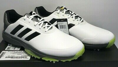 3fd0fc81a Adidas Mens Size 11.5 AdiPower Bounce Golf Shoes White Black Solar - Q44787