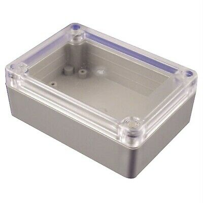 Hammond RP1085C Watertight ABS Enclosure 105 x 75 x 40 Clear Lid Grey