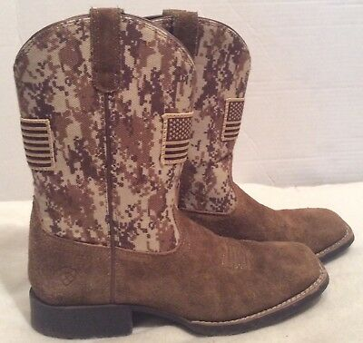 2beaf94cf48 ARIAT YOUTH PATRIOT Western Boots - Antique Mocha/Sand Camo - $79.95 ...