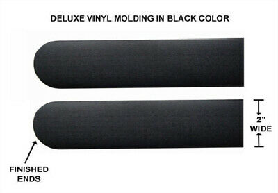 "Universal Peel And Stick Black 2"" Wide Body Side Trim Moldings For Car, Suv"