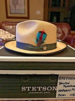 c94743a1e STETSON TWISTED PANAMA Straw Open Road Cowboy Western Hat - $109.95 ...