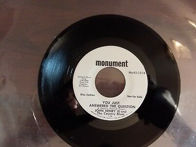 1960s VG Promojohn Henry III Mathilda / You Just Answered The Question Mn45-1218