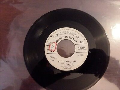 """1958 VG Promo Vic Damone """" On The Street Where You Live """" & """" We All Besoin"""