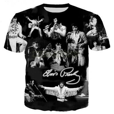 Women Men Casual T-Shirt 3D Print Singer King Elvis Presley Short Sleeve Top Tee