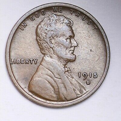 AU 1915-D Lincoln Wheat Cent Penny FREE SHIPPING