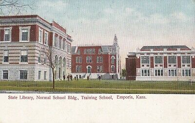 State Library Normal School Training School Emporia Ks 1911 Postcard