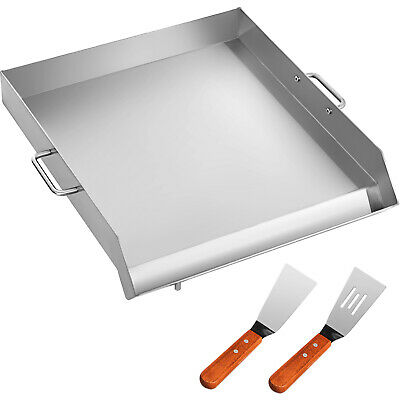 "18"" x 16"" Stainless Steel Griddle Flat Top Grill Griddle For Triple BBQ Stove"