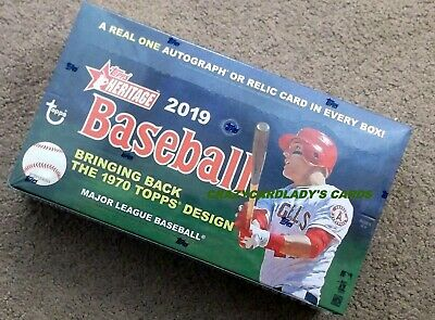2019 Topps Heritage Baseball Hobby Box  Free Same Day Priority Shipping !