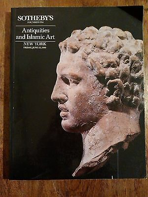 Sotheby's Catalog Antiquities and Islamic Art New York June 1989 Sale 5882