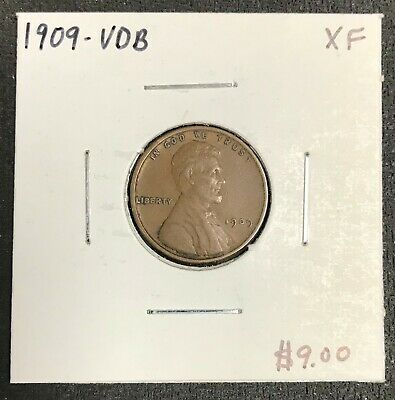 1909-Vdb U.s. Lincoln Wheat Penny Cent ~ Extra Fine Condition! C2065