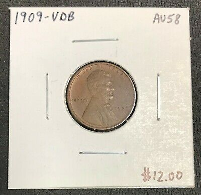 1909-Vdb U.s. Lincoln Wheat Penny Cent ~ Au++ Condition! C2066
