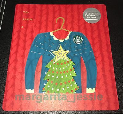 Starbucks Canada Ugly Sweater Series Gift Card Christmas Tree Mini No Value New